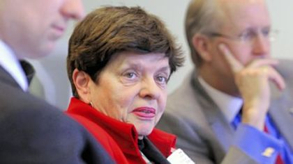 Alice Rivlin, Senior Fellow at The Brookings Institute, meets with the Post-Gazette's editorial board yesterday.