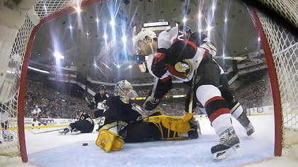 Ottawa refused to allow the Penguins to get their footing in last season's playoffs.