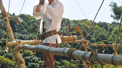 Philip Winchester as Robinson Crusoe in &quot;Crusoe.&quot;