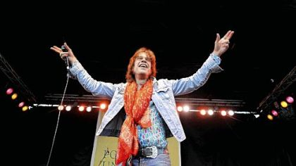 David Johansen of The New York Dolls had a great time performing at the Three Rivers Arts Festival Sunday.