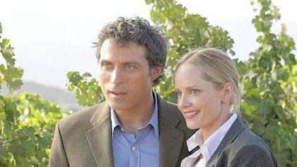 Rufus Sewell, left, is Dr. Jacob Hood, Special Science Advisor to the FBI, and Marley Shelton is FBI agent Rachel Young in &quot;Eleventh Hour.&quot;