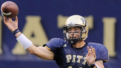 Pitt quarterback Bill Stull has the tough task of trying to score against an Iowa defense that has not allowed a touchdown this season.