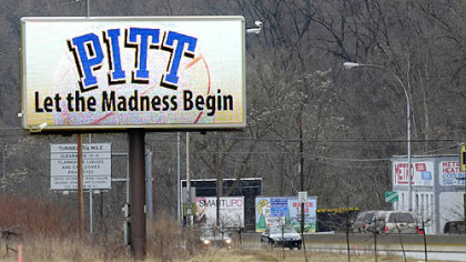A digital billboard along Banksville Road.