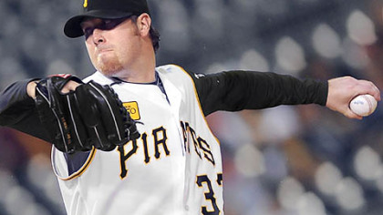Phil Dumatrait went 5 2/3 scoreless innings last night at PNC Park for his first career win.