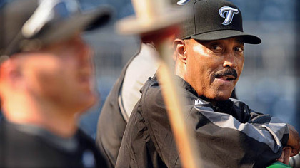 Toronto's new manager Cito Gaston prior to last night's game at PNC Park.