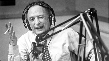 Myron Cope at the radio microphone in 1995.