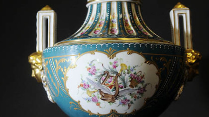 A Sevres style potpourri vase made in 1753 in France is Lot No. 2294 in the auction next weekend.