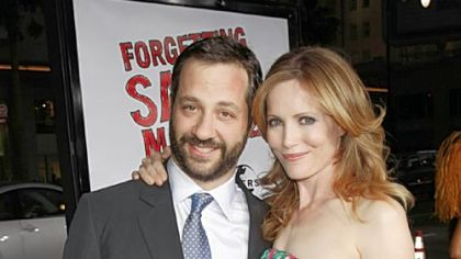 "The answer to the first question -- who is Judd Apatow married to -- is  actress Leslie Mann. The couple is shown arriving for last week's premiere of ""Forgetting Sarah Marshall"" at the Chinese Theater in Los Angeles."
