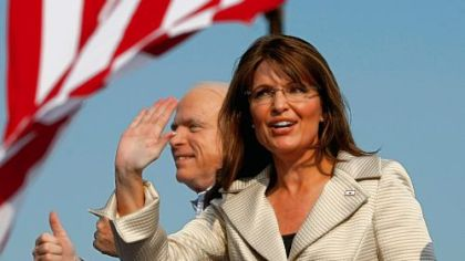The real thing: Sarah Palin and her running mate