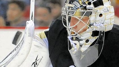 Marc-Andre Fleury carried a shutout into the final three minutes of the game before giving up the tying goal and then the winner in overtime.