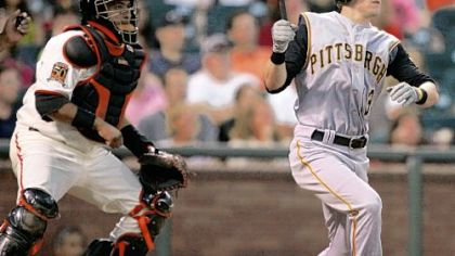 Nate McLouth's RBI double in the fifth had helped give the Pirates a 3-1 lead.