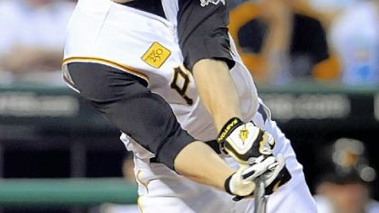 Jason Bay, the subject of so much talk with the trade deadline arriving at 4 p.m. today, knocked in two runs in the fifth inning last night vs. Colorado at PNC Park.