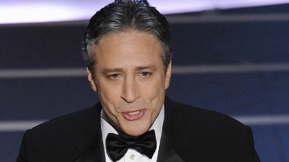 Oscar host Jon Stewart opens the 80th Academy Awards telecast last night in Los Angeles.