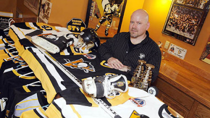 Tim Kelley, of Coraopolis, has been collecting Penguins memorabilia since 1995.