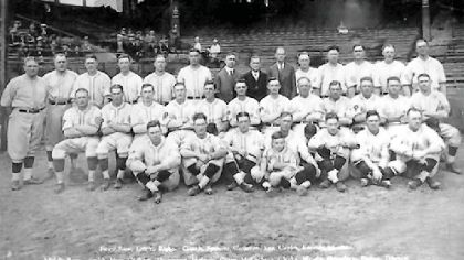 Group picture of the Pirates as 1925 World Series Champions