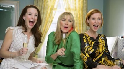 "Kristin Davis, left, stars as Charlotte York-Goldenblatt, Kim Cattrall, center, as Samantha Jones and Cynthia Nixon as Miranda Hobbes in ""Sex and the City."""