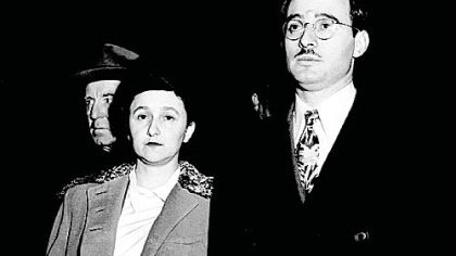 Julius Rosenberg and his wife, Ethel, are shown during their espionage trial in New York's federal courthouse in March 1951. Documents released from the National Archives last week are likely to provide further evidence that they were guilty of spying for the Soviet Union. The Rosenbergs were convicted of the charges and were electrocuted on June 19, 1953.