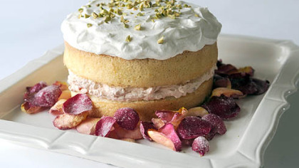 Persian Love Cake with Candied Rose Petals