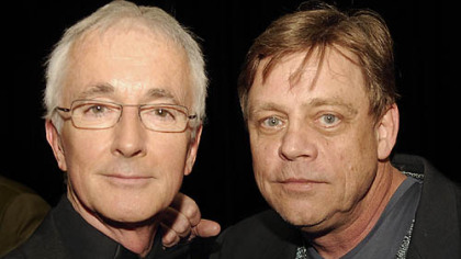 Anthony Daniels, left,  and Mark Hamill.