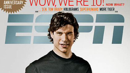 The ESPN Magazine's 10th Anniversary Issue features Penguins captain Sidney Crosby.
