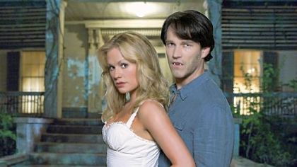 "Anna Paquin and Stephen Moyer star in the comical vampire soap opera ""True Blood."