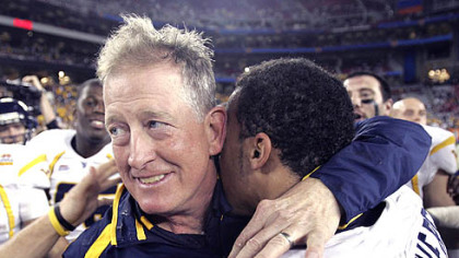 Bill Stewart led WVU to a 48-28 win in the Fiesta Bowl
