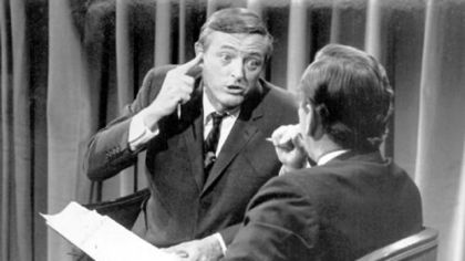 William Buckley Jr. with Gore Vidal on election night, 1968.