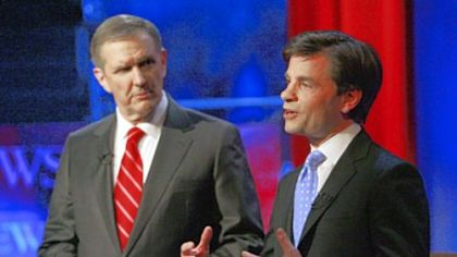 The game plan followed by ABC News moderators Charles Gibson, left, and George Stephanopoulos at Wednesday night's debate came under fire from many quarters.