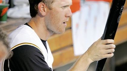 Jason Bay and his two-day growth of beard played on even as his name was thrown around last night on the eve of the trade deadline.