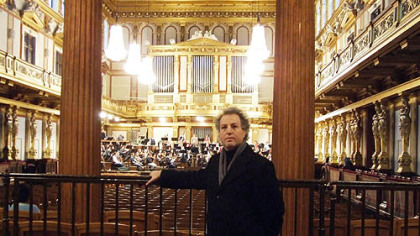 Incoming Pittsburgh Symphony music director Manfred Honeck stands in the back of the Musikverein Hall in Vienna in the same spot where he heard his first concert decades ago.