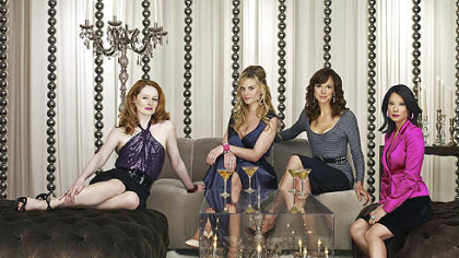 """Cashmere Mafia"" stars, from left, Miranda Otto, Bonnie Somerville, Frances O'Connor and Lucy Liu. The show will debut at 10 p.m. Sunday on ABC, then air regularly on Wednesdays."