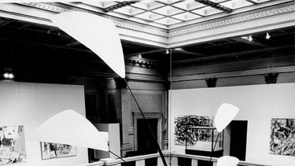 "Alexander Calder's ""Pittsburgh"" in its first happy home, the Carnegie Museum, in 1958."