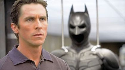 "Christian Bale as Bruce Wayne in ""The Dark Knight."""