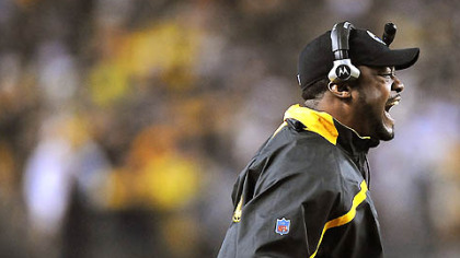 Mike Tomlin wanted a holding call against Jacksonville during Saturday's game at Heinz Field.