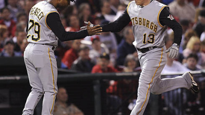 Nate McLouth got the Pirates on the board with his 10th home run of the season in the fourth inning.