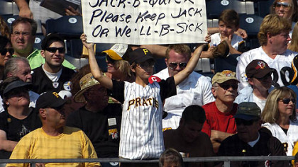 A young fan expresses his hope that the Pirates will keep infielder Jack Wilson next year.