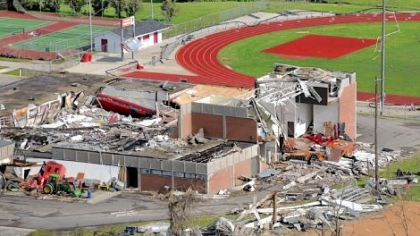 Aplington-Parkersburg High School: The day after.