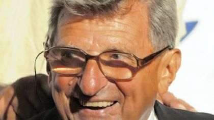 Joe Paterno -- The happy inductee