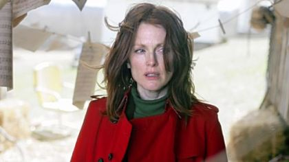 "In the movie ""Shelter,"" filming in the Pittsburgh area, Julianne Moore plays a psychiatrist opposite Jonathan Rhys Meyers, a troubled patient."