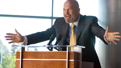 "Jeff Bridges stars as Obadiah Stane in ""Iron Man."""