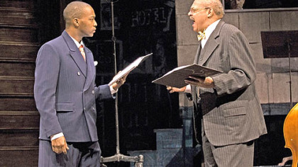 "Anthony Mackie as Levee and Roger Robinson as Toledo in ""Ma Rainey's Black Bottom"" at Kennedy Center."
