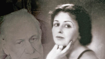 """Living in the Shadow of the Freud Family"" is the new book by Sigmund Freud's granddaughter, Sophie. The woman on the cover is her mother (Sigmund Freud's daughter-in-law), Esti."