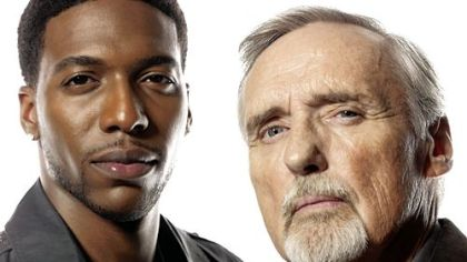 Jocko Sims, left, and Dennis Hopper clash in &quot;Crash.&quot;