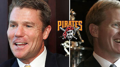 Pirates team president Frank Coonelly, left, and general manager Neal Huntington.