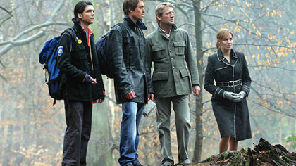 &quot;Primeval&quot; stars, from left, Connor (Andrew Lee Potts), Stephen (James Murray), Cutter (Douglas Henshall)and Claudia (Lucy Brown)
