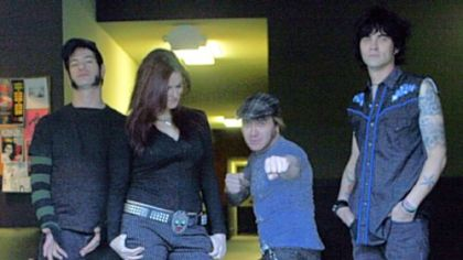 Lita, aka Amy Dumas, second from left, now wrestles with punk with The Luchagors.