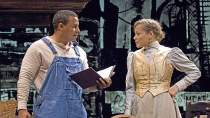 Montae Russell as Jeremy Furlow, Michole Briana White as Molly Cunningham