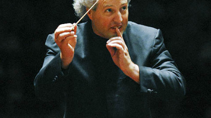"Manfred Honeck conducts Johann Strauss' ""Voices of Spring"" last September at Heinz Hall."