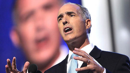 Sen. Bob Casey Jr. depicted Sen. Barack Obama as a force for tolerance.