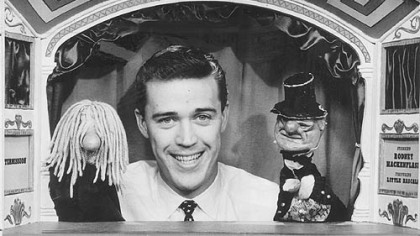 Hank Stohl and his puppets.